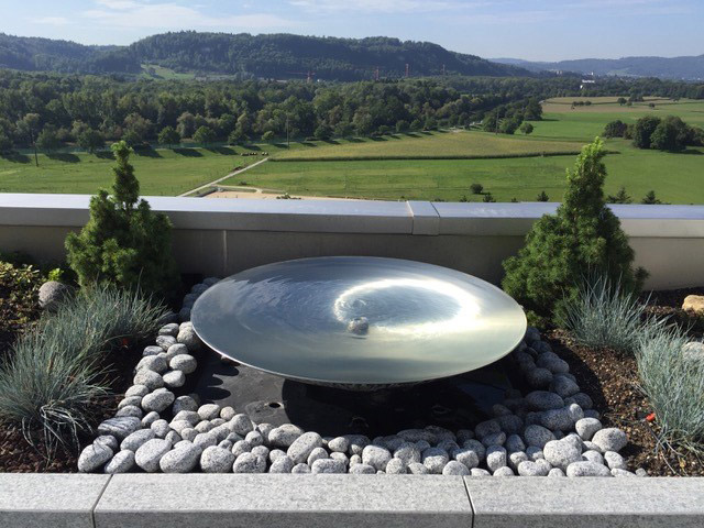 Wasserschale, Edelstahl-Schale, Wasser, Gartenbrunnen, Zen-Schale, hochwertig, Hochbeet