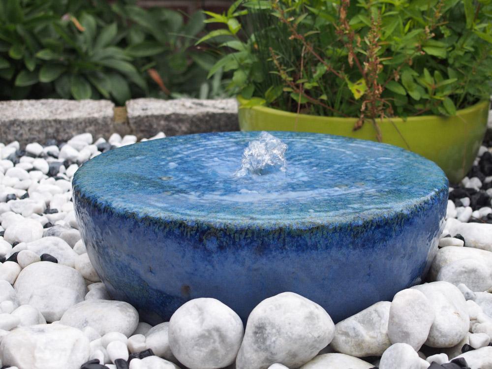 Keramikbrunnen, Garten Brunnen, Springbrunnen Kunst, Gartenkunst
