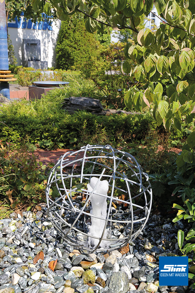 Gartenbrunnen, Zierbrunnen, Springbrunnen Garten. Zinkbrunnen, modernes Design, Ideen mit Wasser