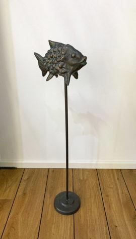 Bronzefigur Wasserspeier Bronzefisch Buttje