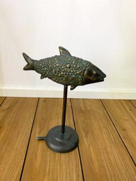 Bronzefigur Wasserspeier Bronzefisch Manntje