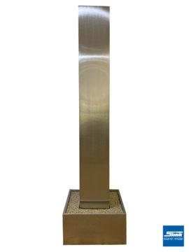 Wasserobjekt Edelstahl-Monolith in Edelstahlbecken