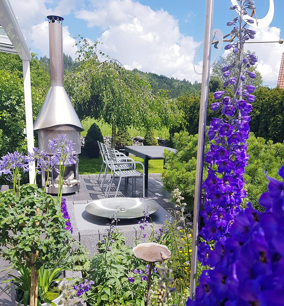 Edelstahlschale, Wasserschale, Moderner Gartenbrunnen, Ideen für Gartengestaltung