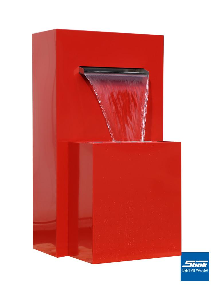 Gartenwasserfall, Farbe Brunnen Garten, Gartenideen Metall, Wasser im Garten, Gartenkunst, Lautstärke mit Wasser