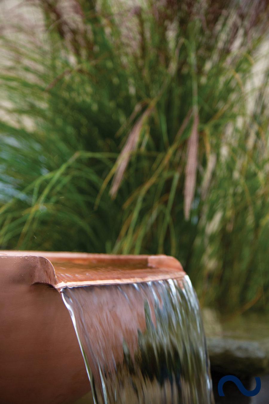 Slink Kupfer-Fontaenenschalen Gartenbrunnen Wasserschale Garten