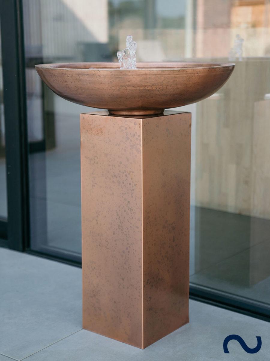 Slink Toulouse Kupferbrunnen Gartenbrunnen modern Balkonbrunnen Terrassenbrunnen