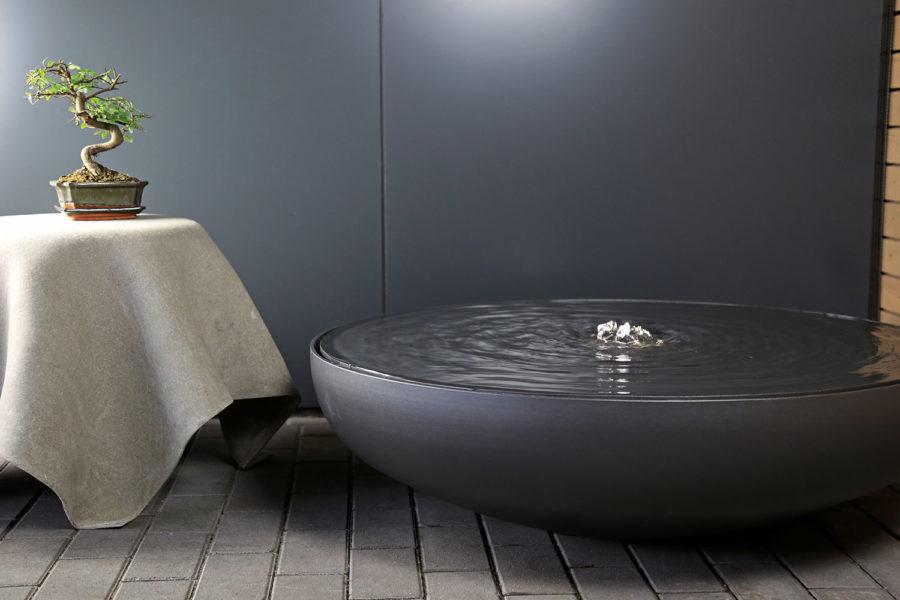 Slink Aluminium-Wasserschale Lund Schalenbrunnen Garten Terrasse