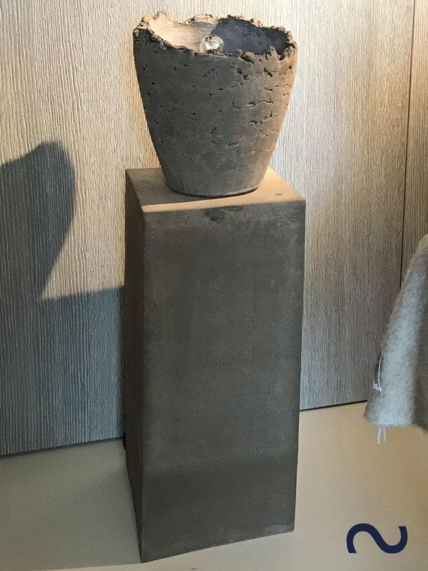 Slink Wasserobjekt Zimmerbrunnen Toskana Keramikbrunnen Wasserschale Gartenbrunnen