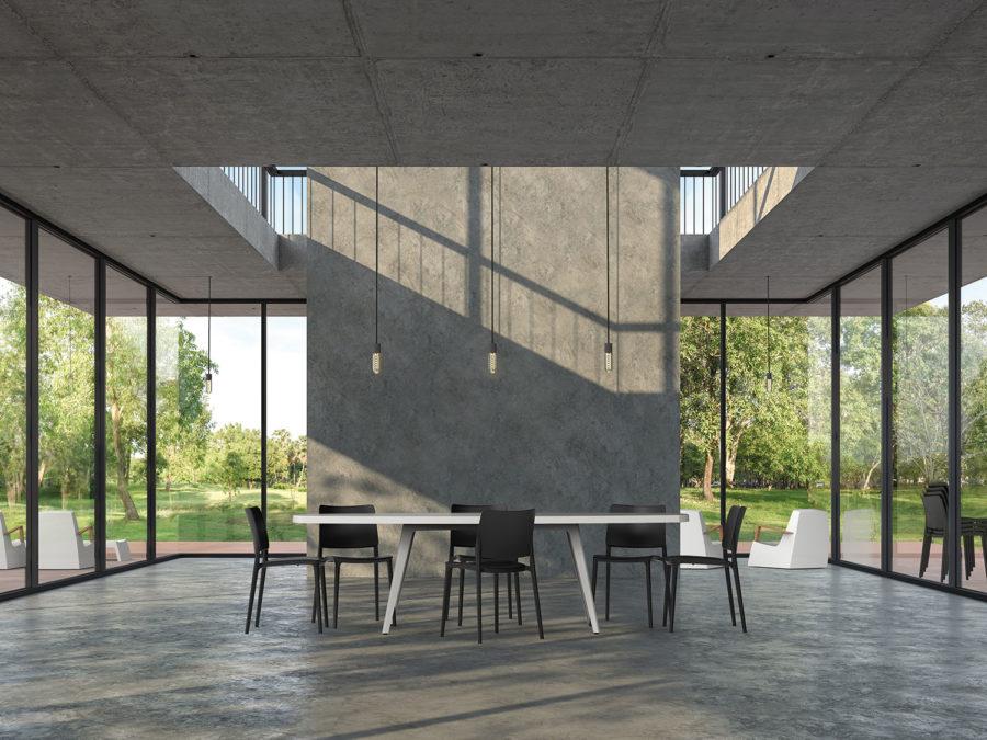 Slink Doves Gartentisch 160 Terrassentisch Moebel modern weiss