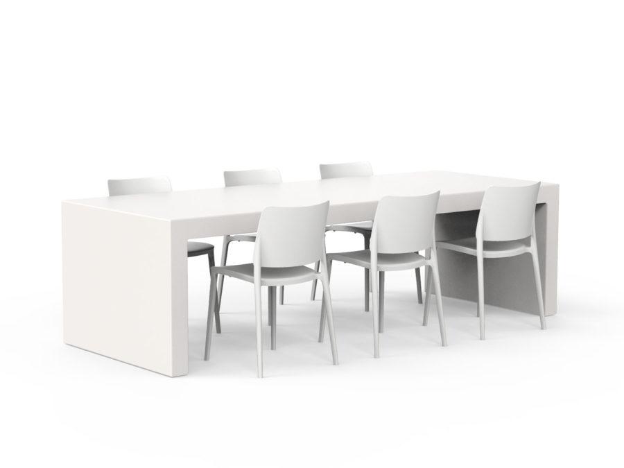 Slink Clear Tisch Gartentisch Terrassentisch Moebel Design schlicht Design