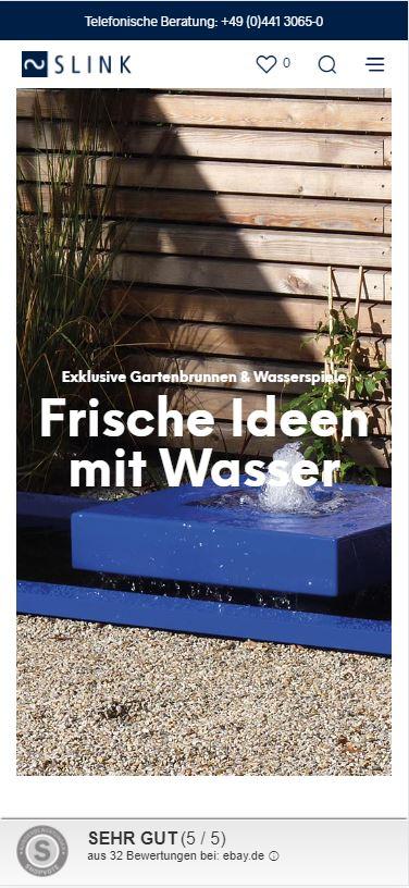 Slink Ideen mit Wasser Mobilphone Homepage