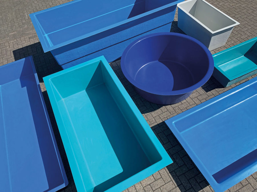 Wasserbecken und Teichbecken aus GFK in allen Farben und Formen